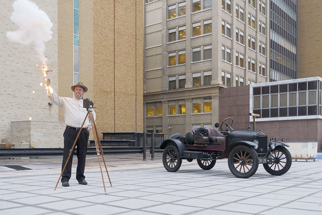 Mark Osterman and his Model T by Dick Bennett
